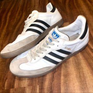 Adidas Original Samba Shoes 10.5 Black & White Men